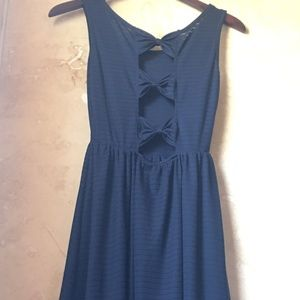 Dresses & Skirts - Navy Blue Nautical Summer Dress with Triple Bow